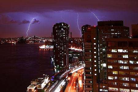 Lightning Strike over NYC